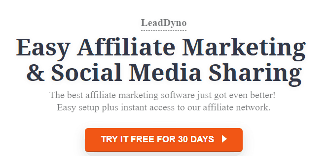 LeadDyno Affiliate Marketing Tool