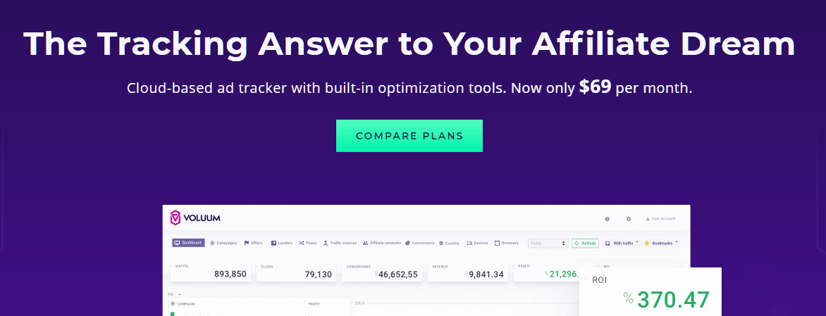 Voluum Affiliate Marketing Tool