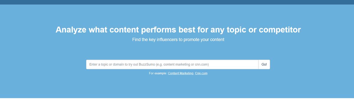 buzzsumo Affiliate Marketing Tools