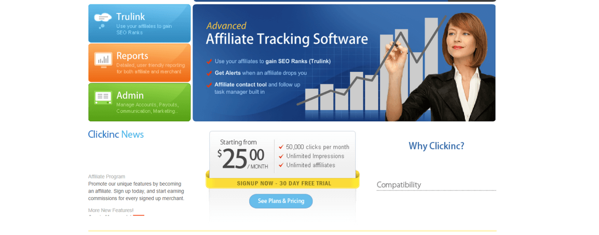 clickinc Affiliate Marketing Tools