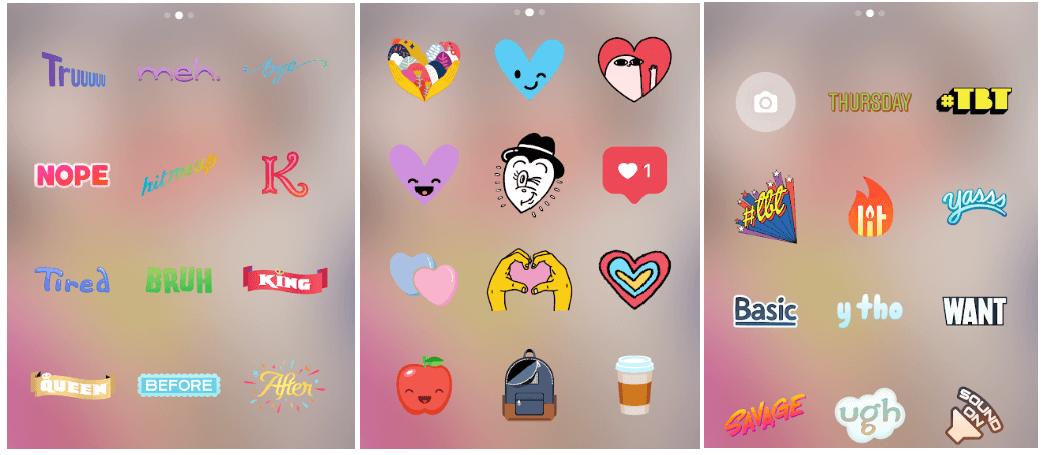 Instagram Stories Stickers