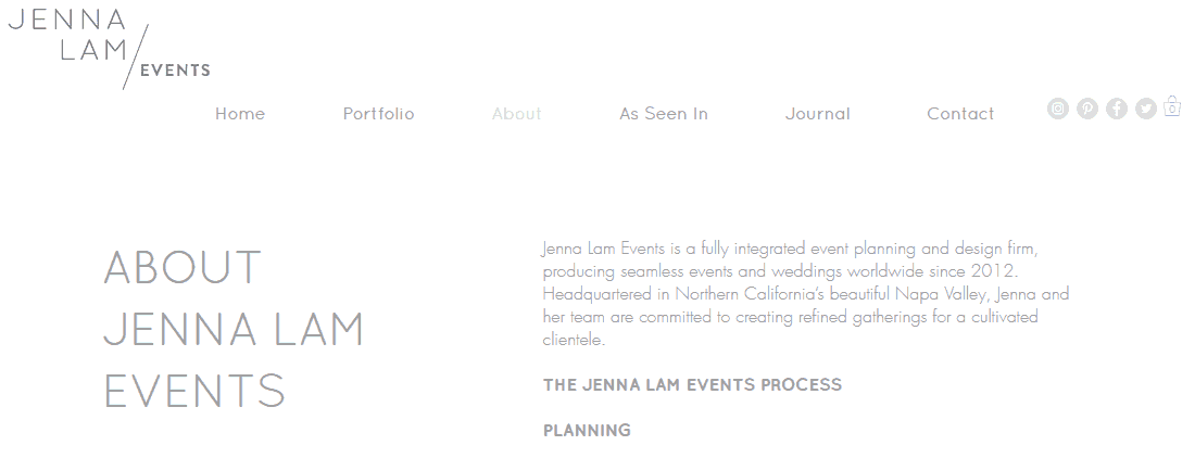 Jenna Lam Events copywriting tips