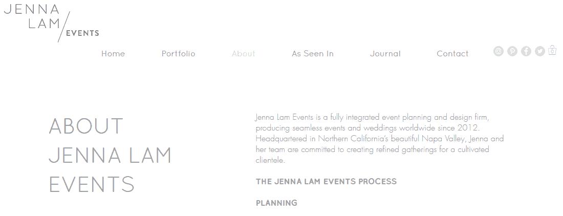 Jenna Lam Events copywriting tips