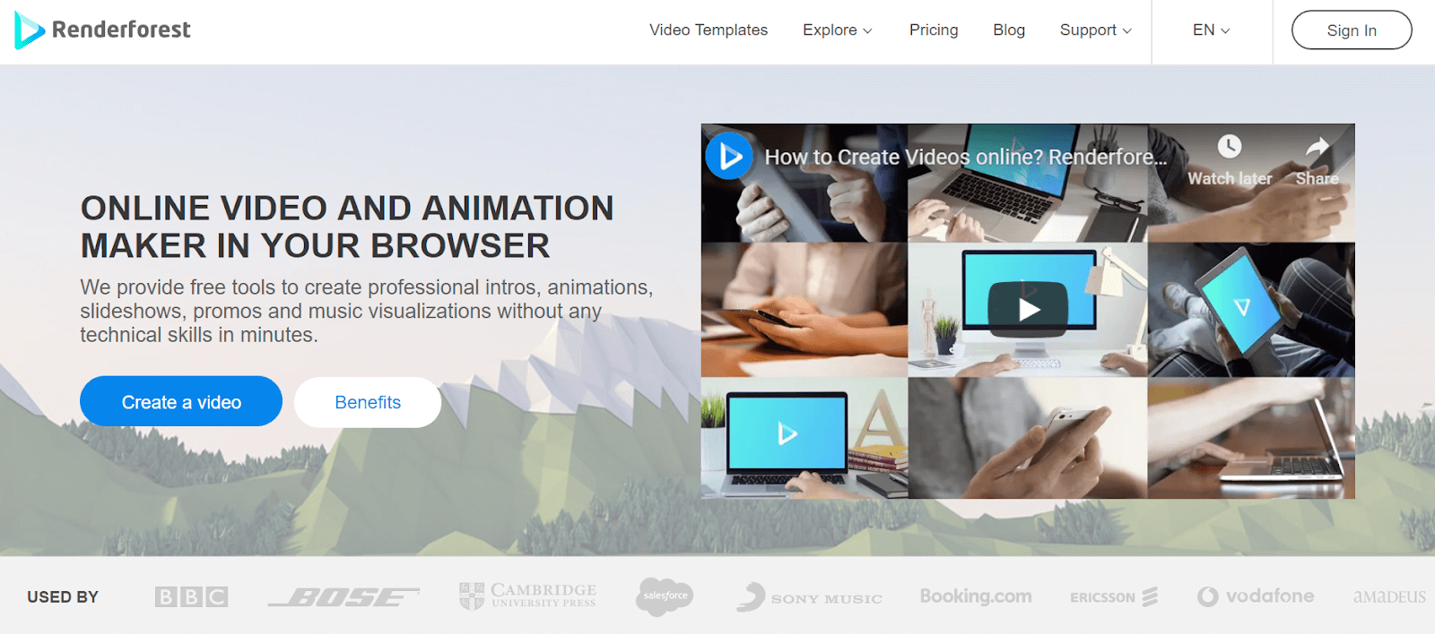 Renderforest Video Marketing Tool