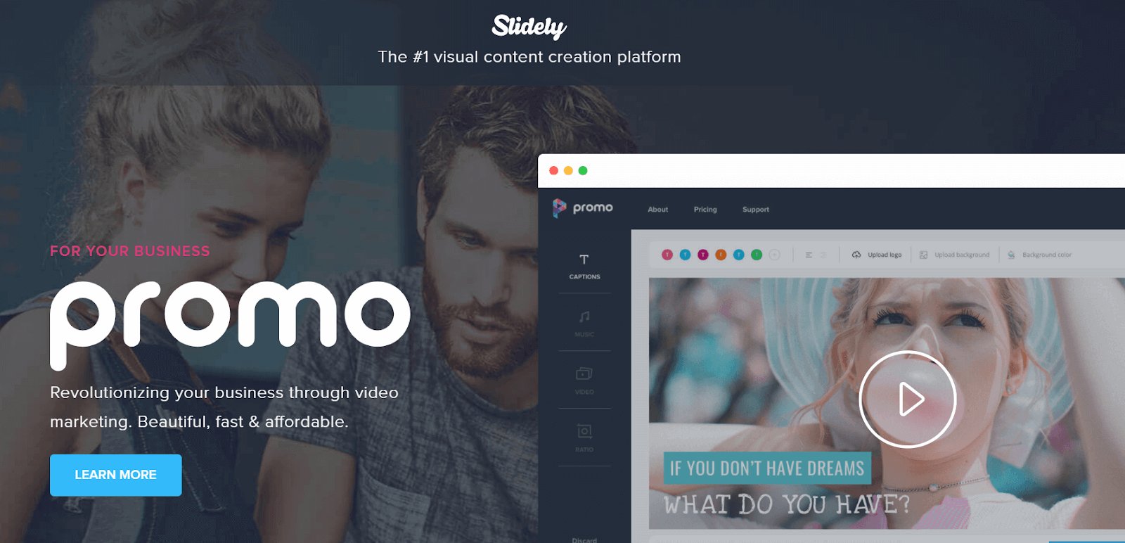 Slidely Video Marketing Tool