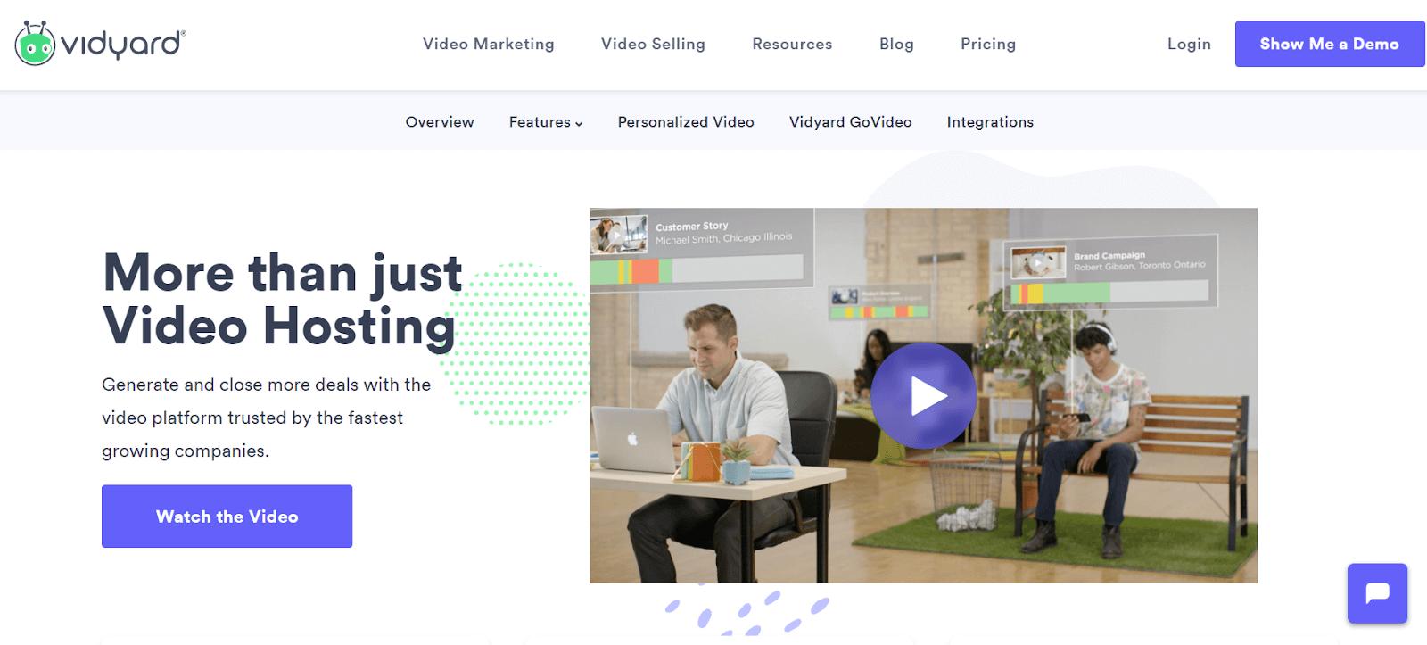Vidyard Video Marketing Tool