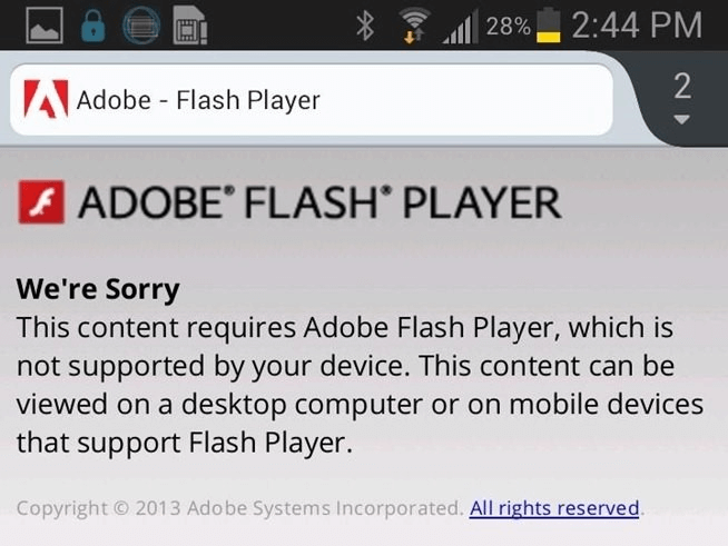 adobe Flash player Mobile-First Indexing