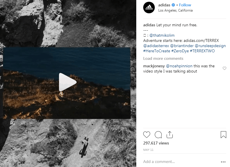 Adidas instagram Hashtag Campaigns