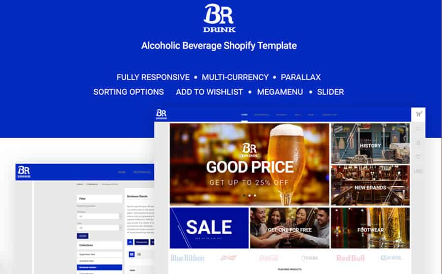 BR Drink Ecommerce Template