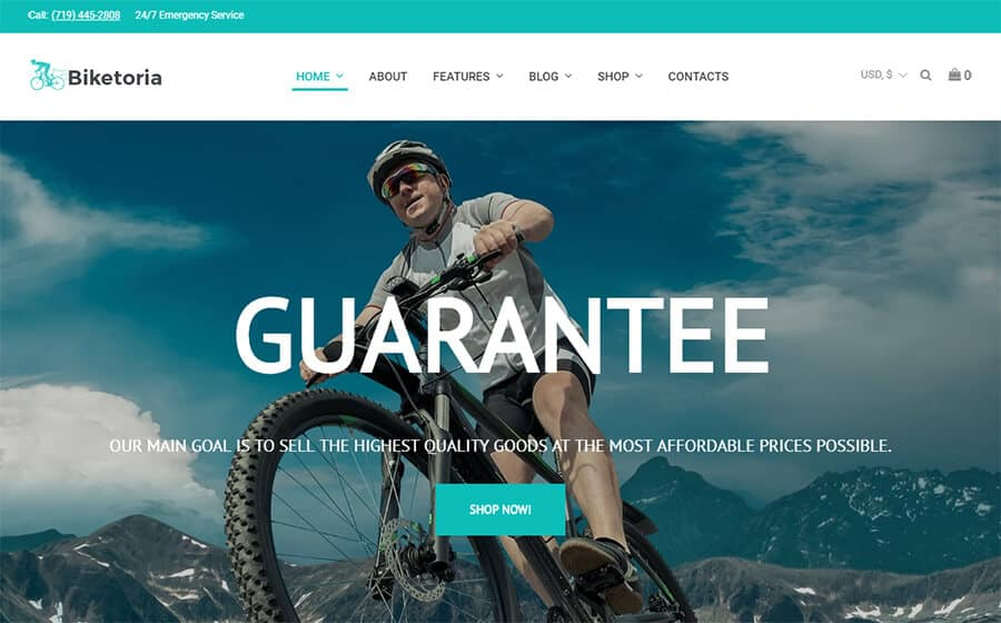 Biketoria Ecommerce Template