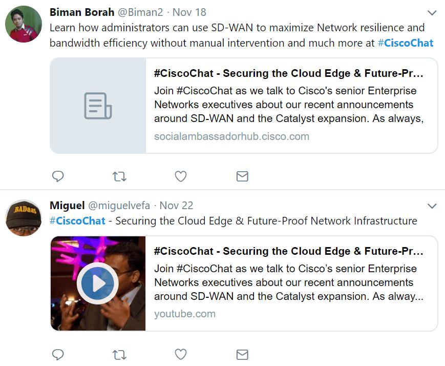 Cisco Champions twitter Social Media Reputation