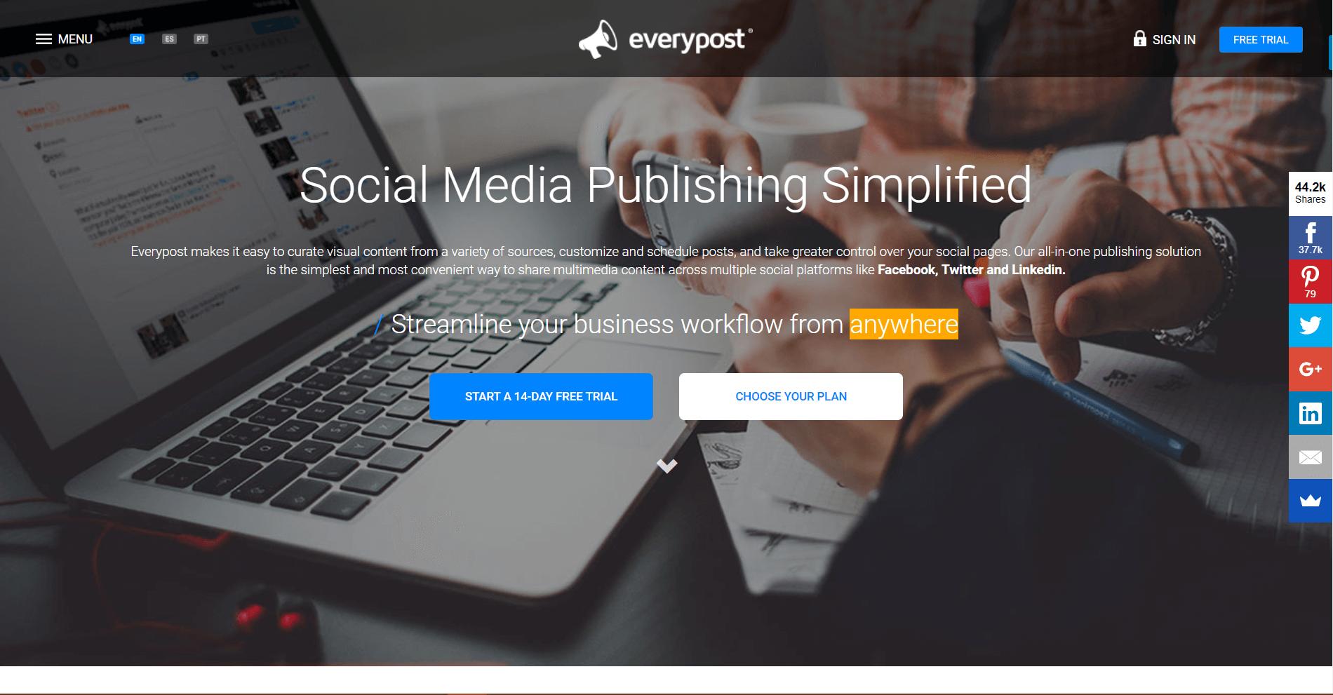 Everypost Social Media Marketing Tool