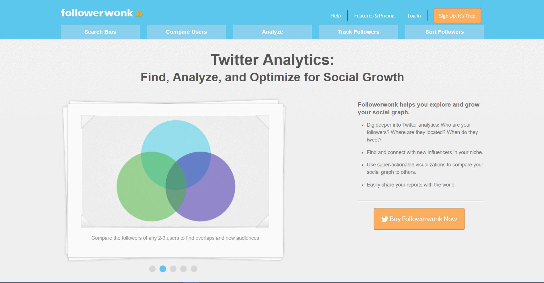 Followerwonk Social Media Marketing Tool