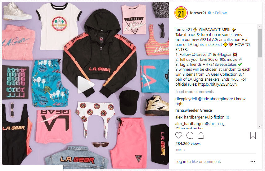 Forever21 instagram Customer Acquisition Strategies