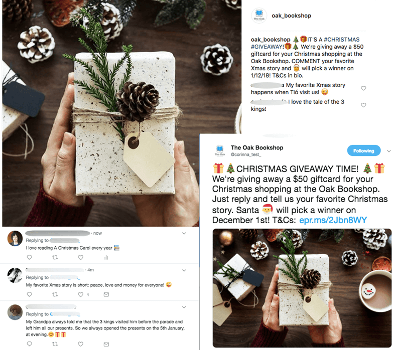Instagram and Facebook Christmas Marketing Campaigns