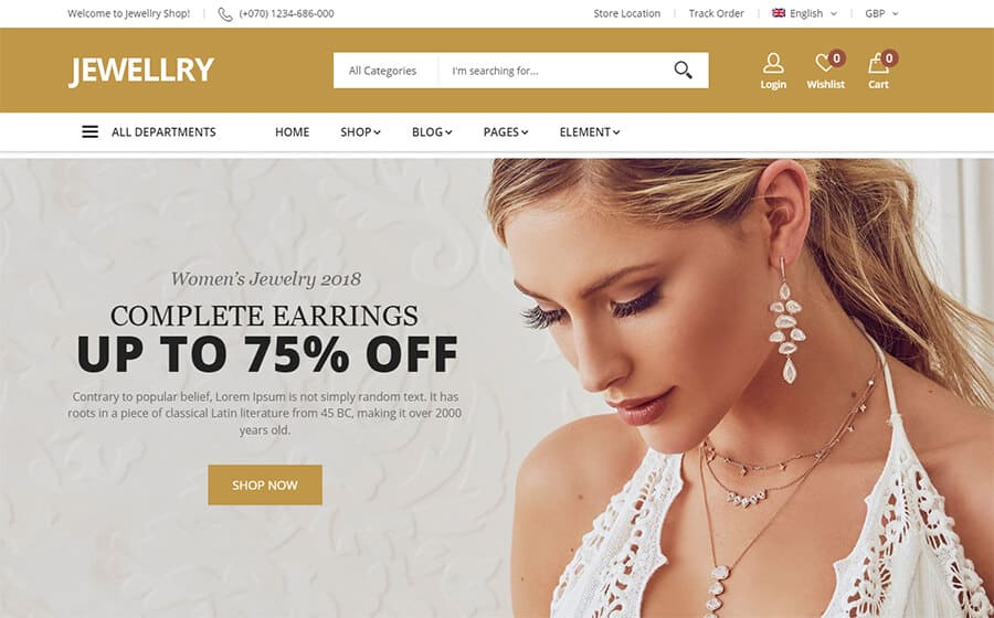 Jewellry Ecommerce Template