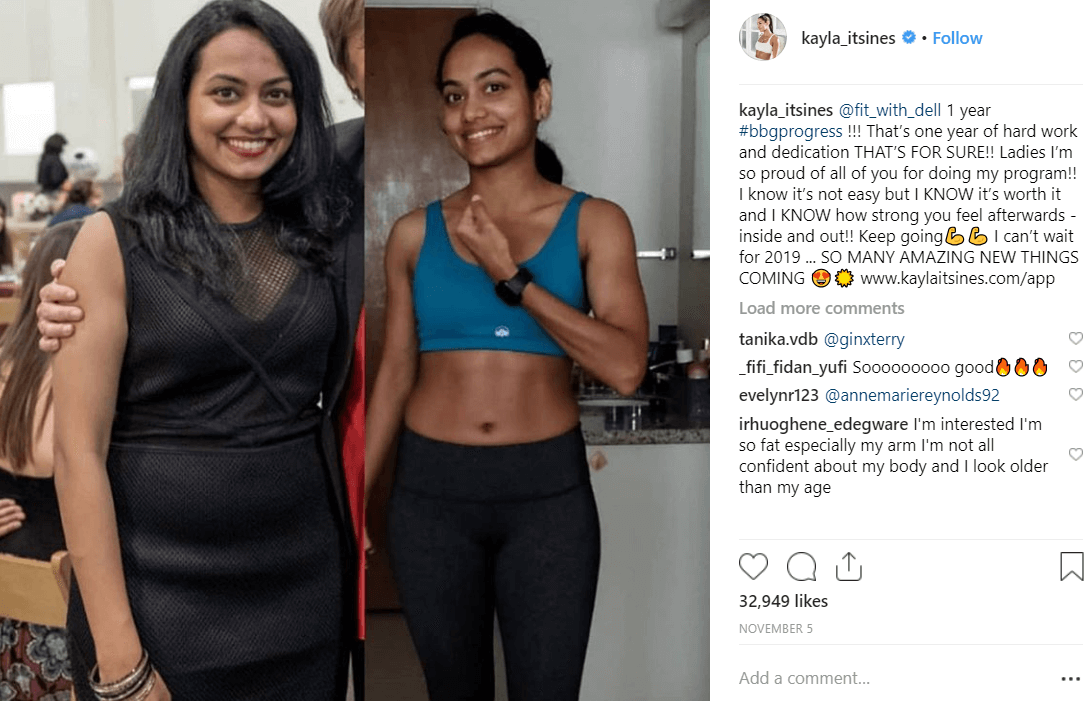Kayla Itsines instagram Social Media Reputation