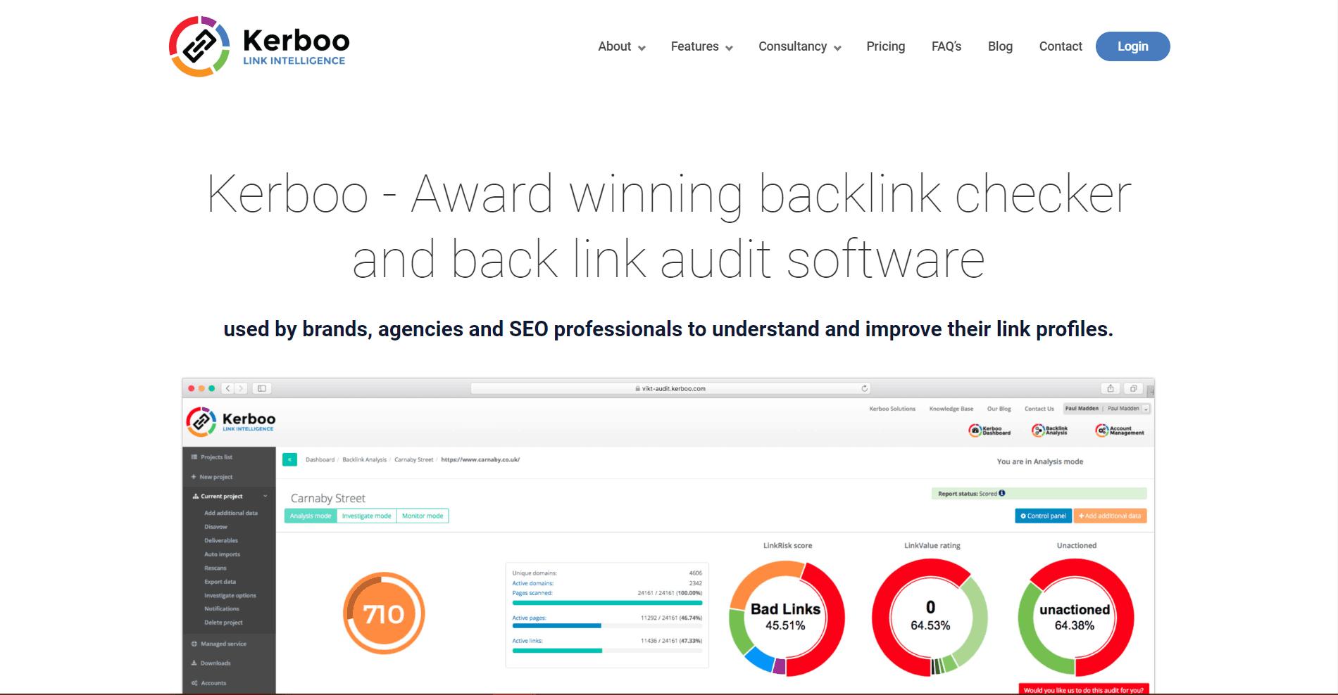 Kerboo Backlink Analysis Tool