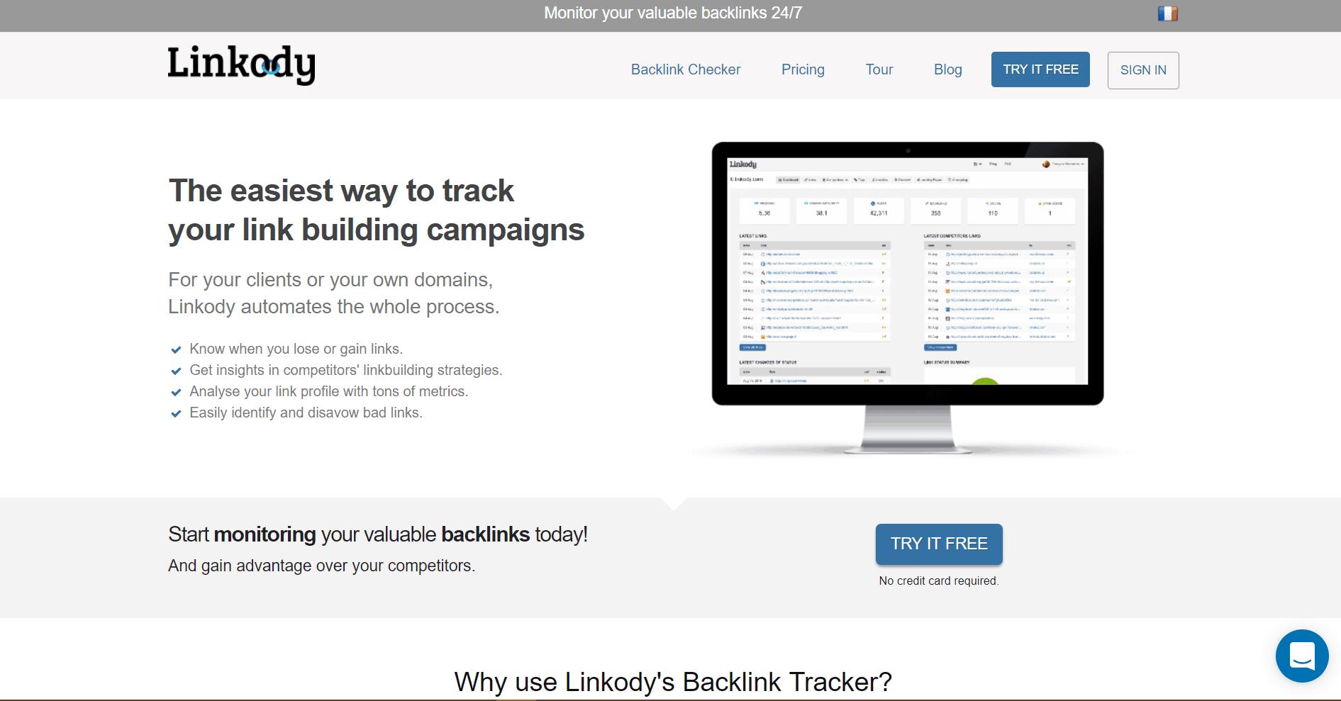 Linkody Backlink Analysis Tool