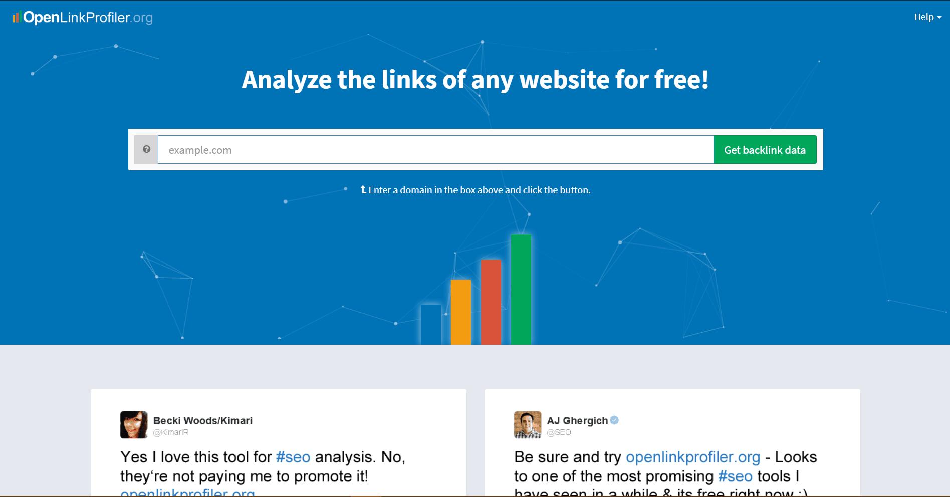OpenLinkProfiler Backlink Analysis Tool