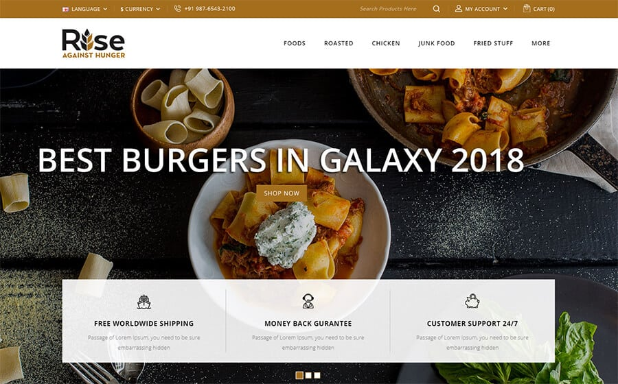 RISE Ecommerce Template