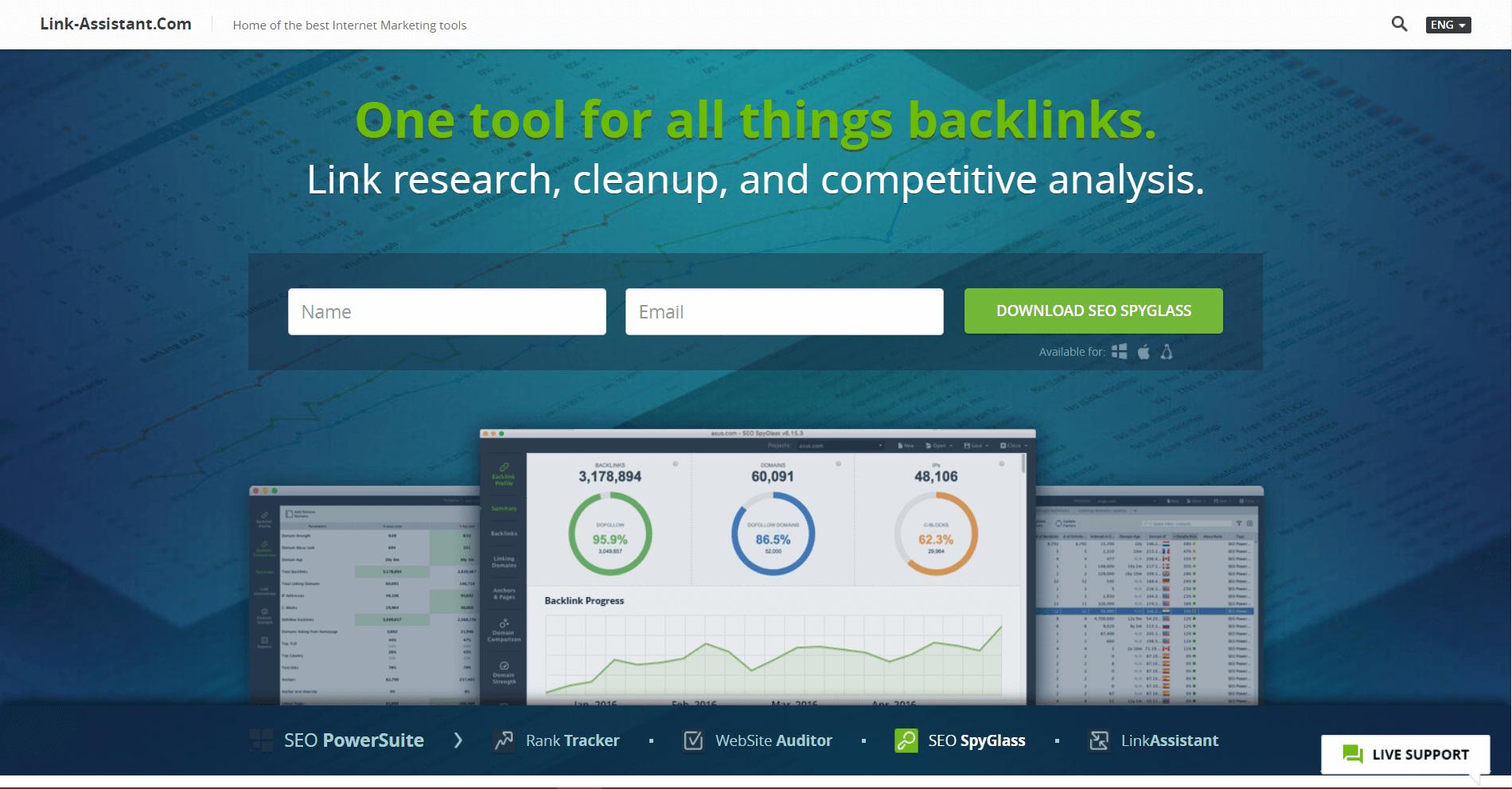 SEO SpyGlass Backlink Analysis Tool