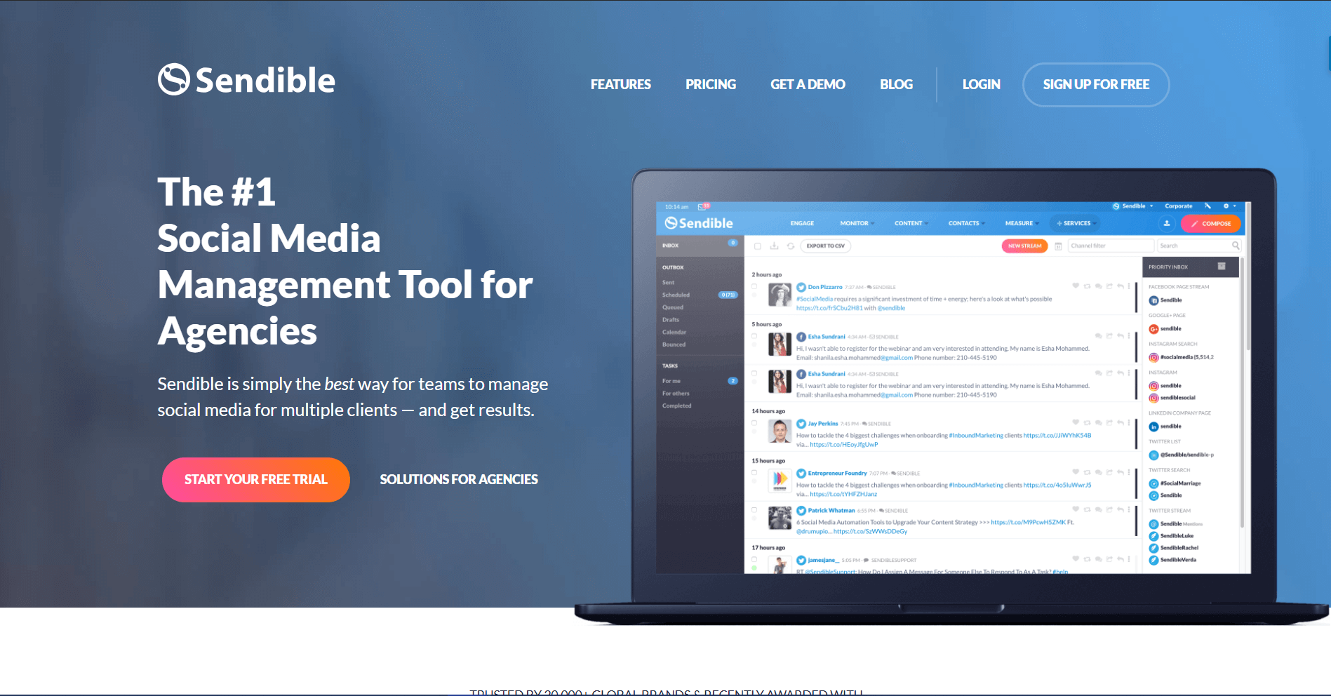 Sendible Social Media Marketing Tool