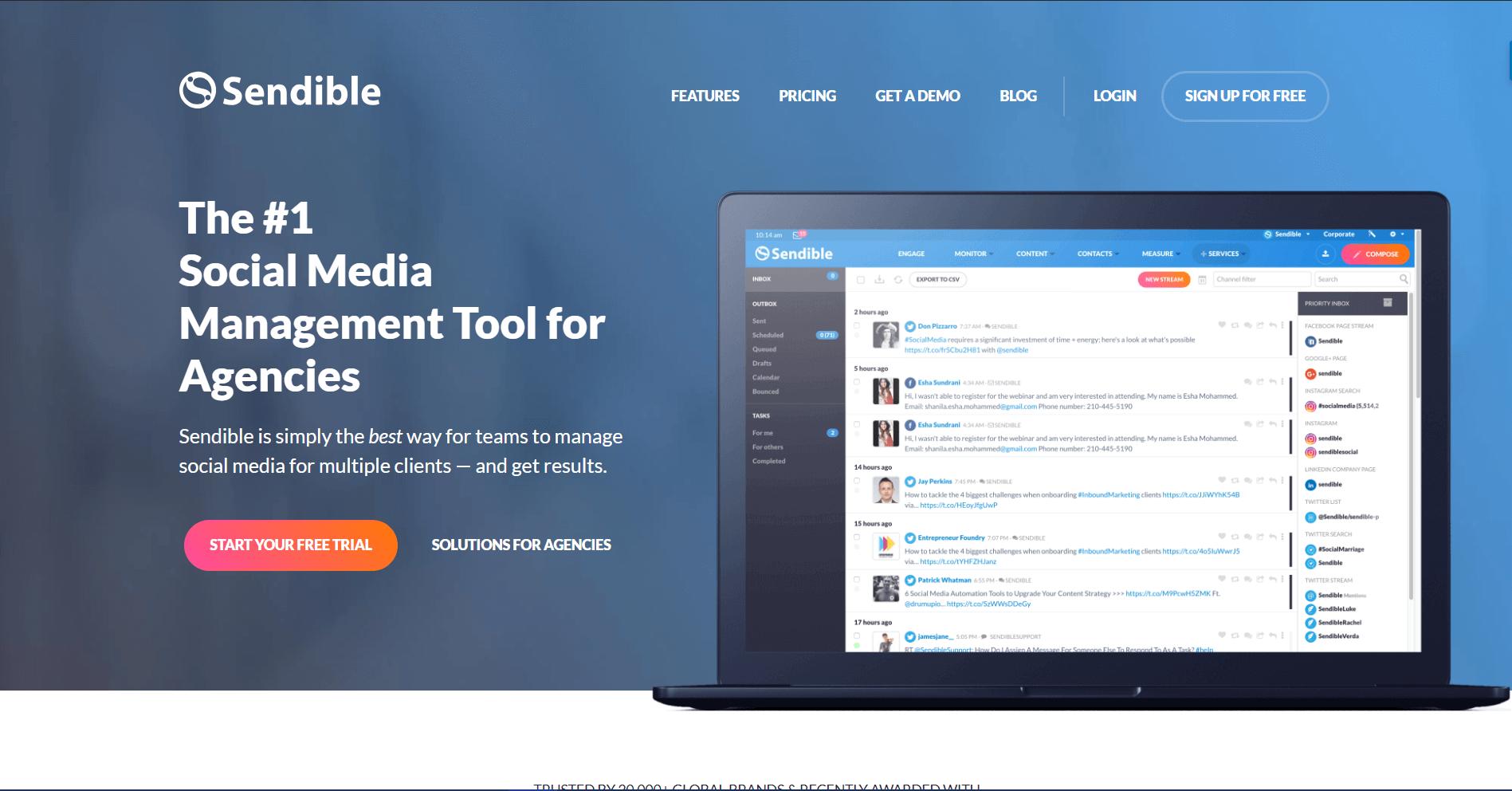 Sendible Social Media Marketing Tool