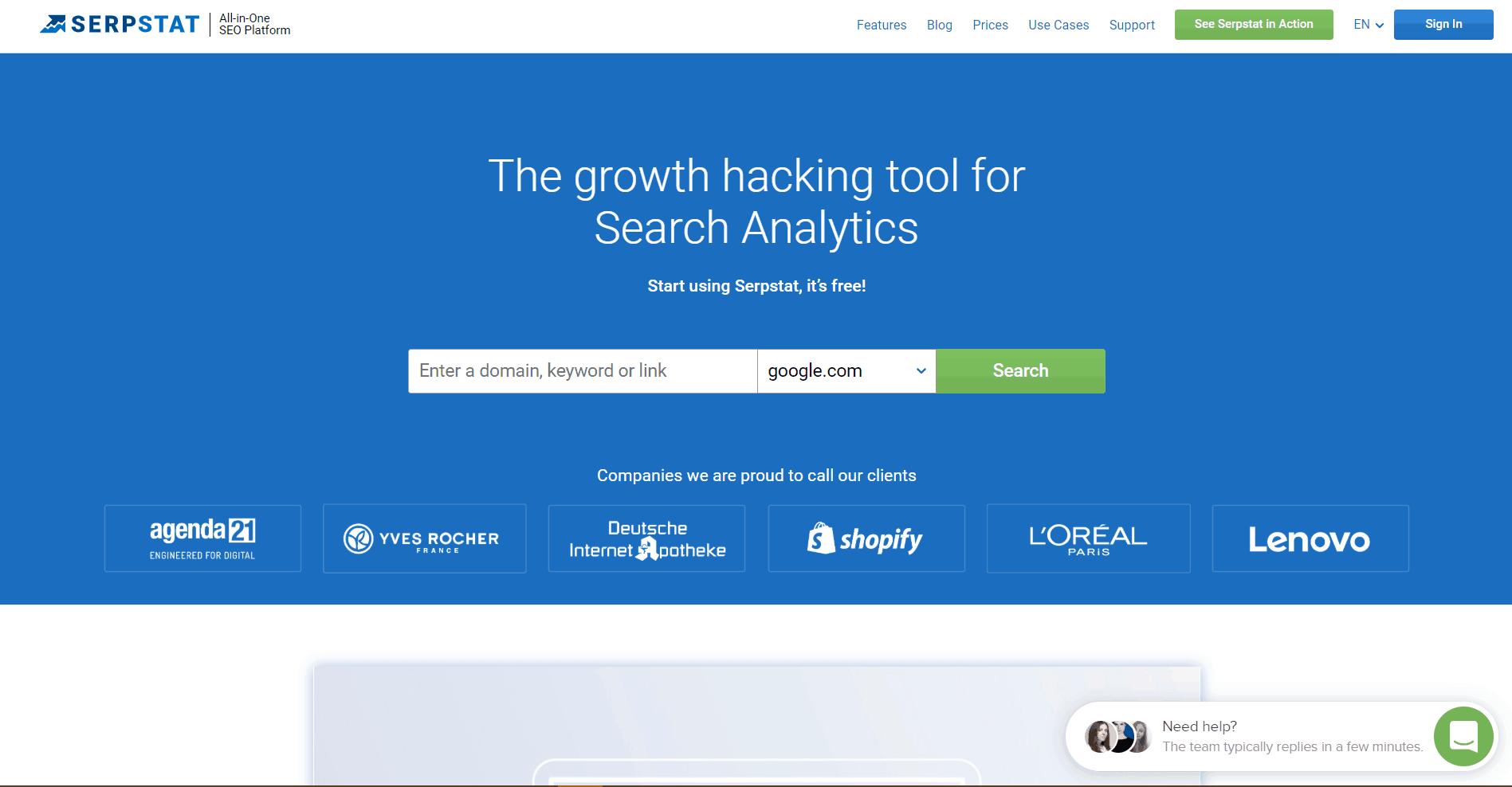 Serpstat Backlink Analysis Tool