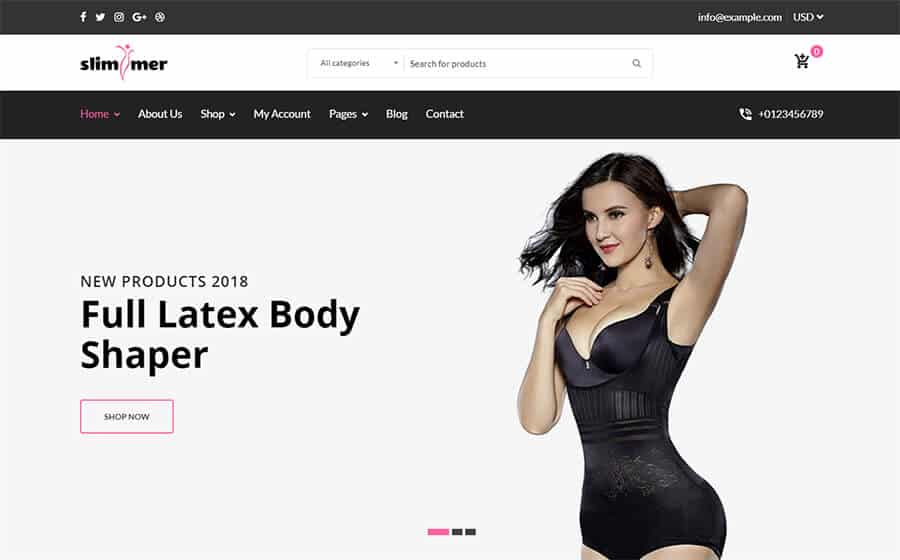 Slimmer Ecommerce Template