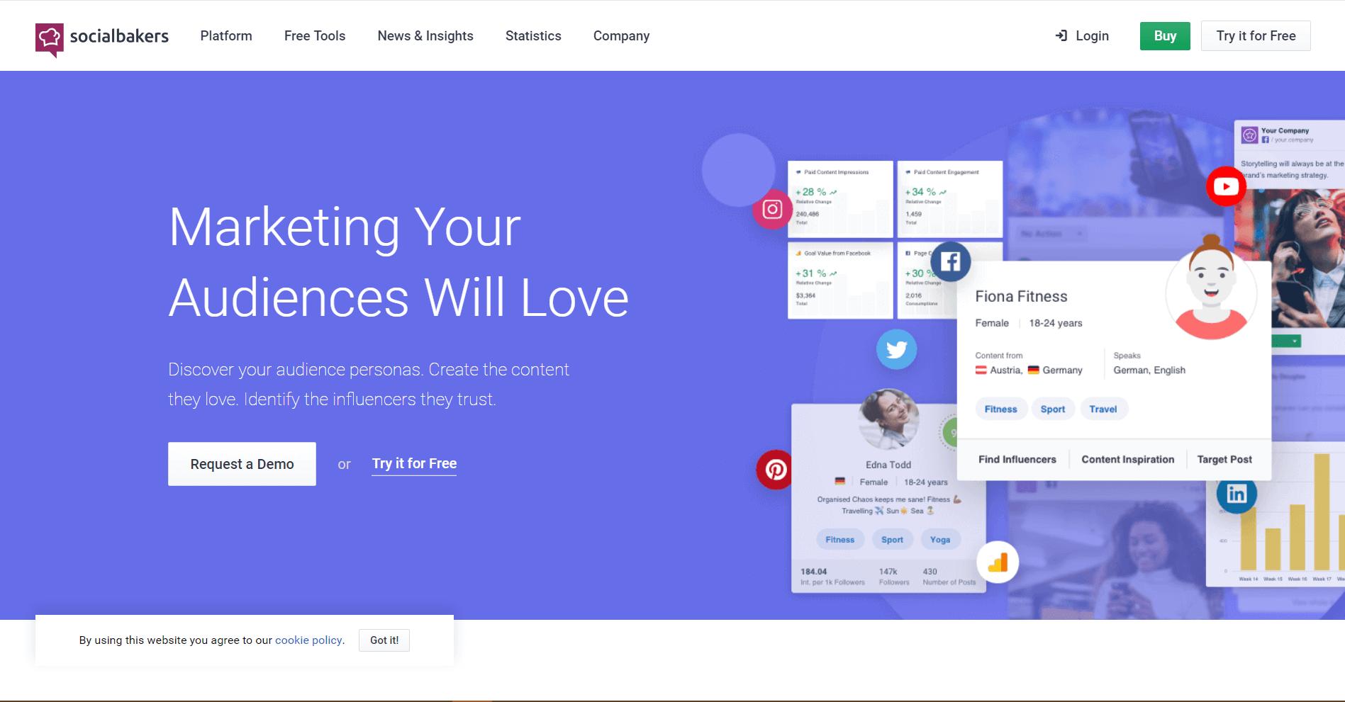 Socialbakers Social Media Marketing Tool