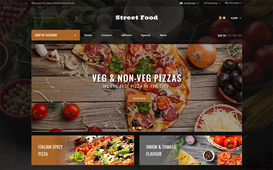 Street Food Store Ecommerce Template