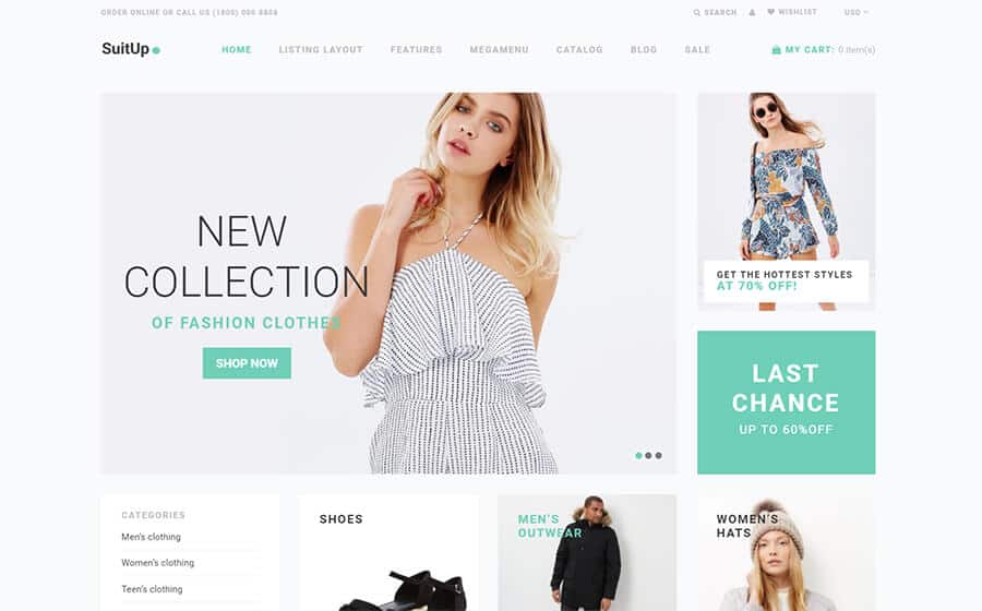 SuitUP Ecommerce Template