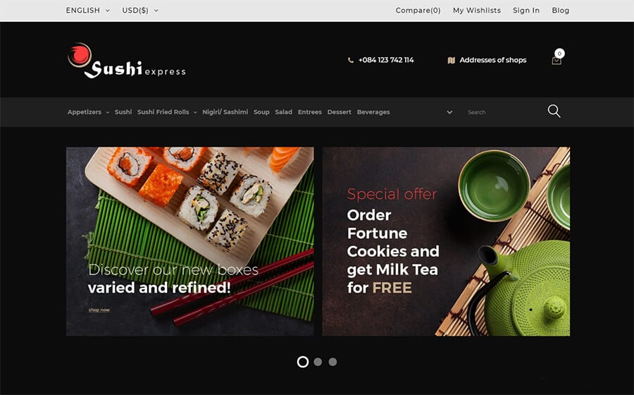SushiExpress Ecommerce Template