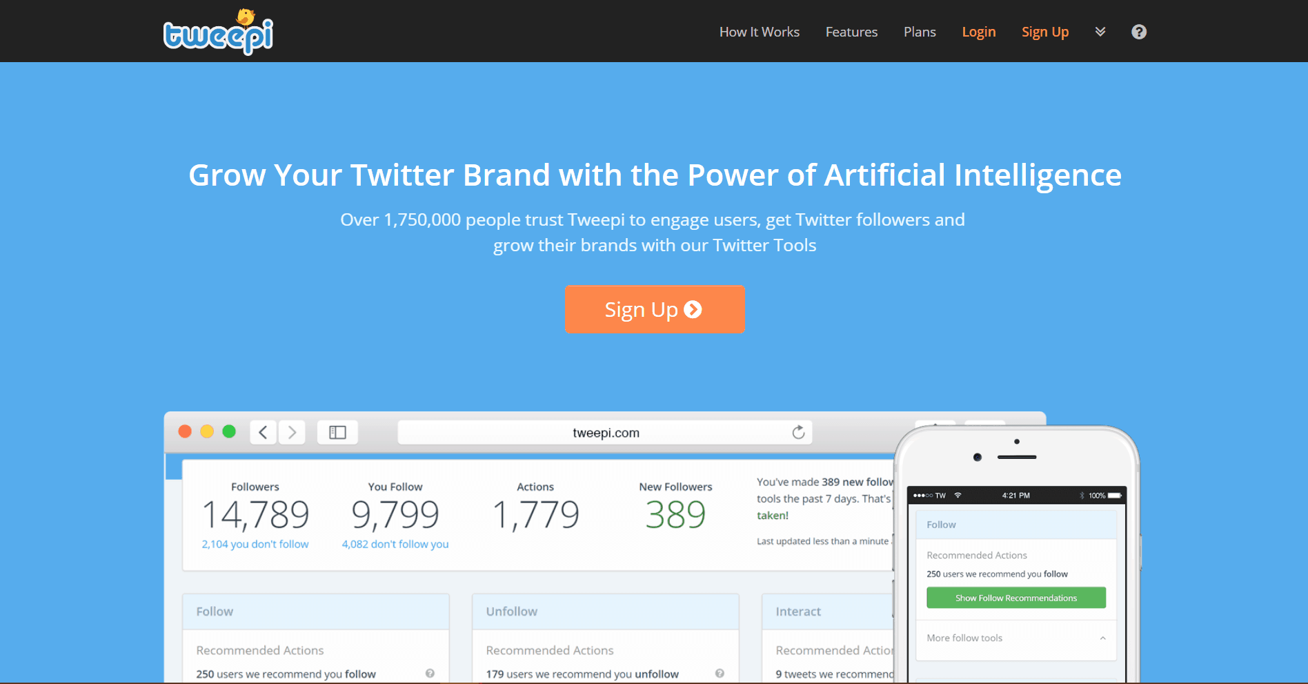 Tweepi Social Media Marketing Tool