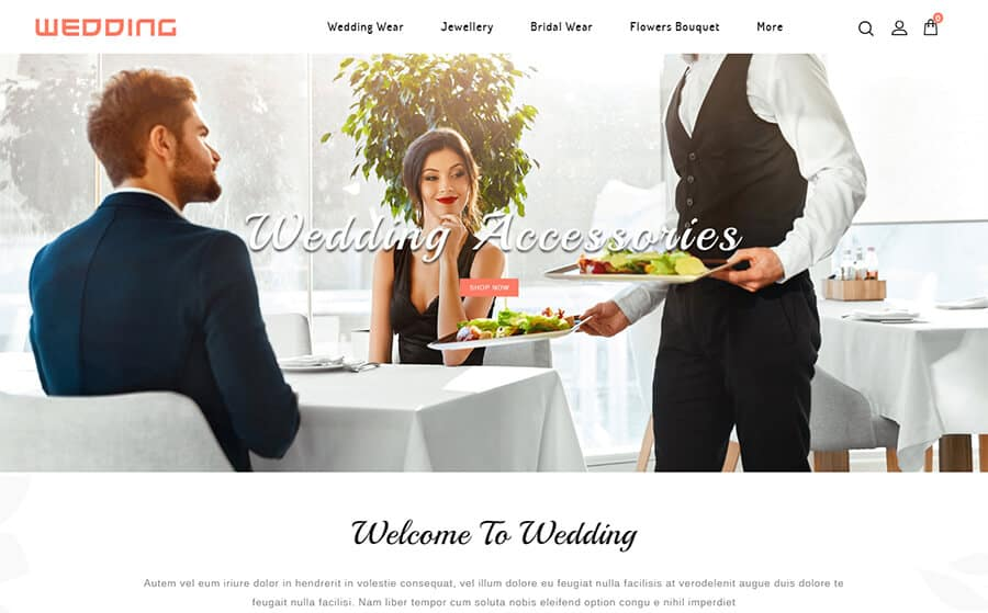 Wedding Collection Ecommerce Template