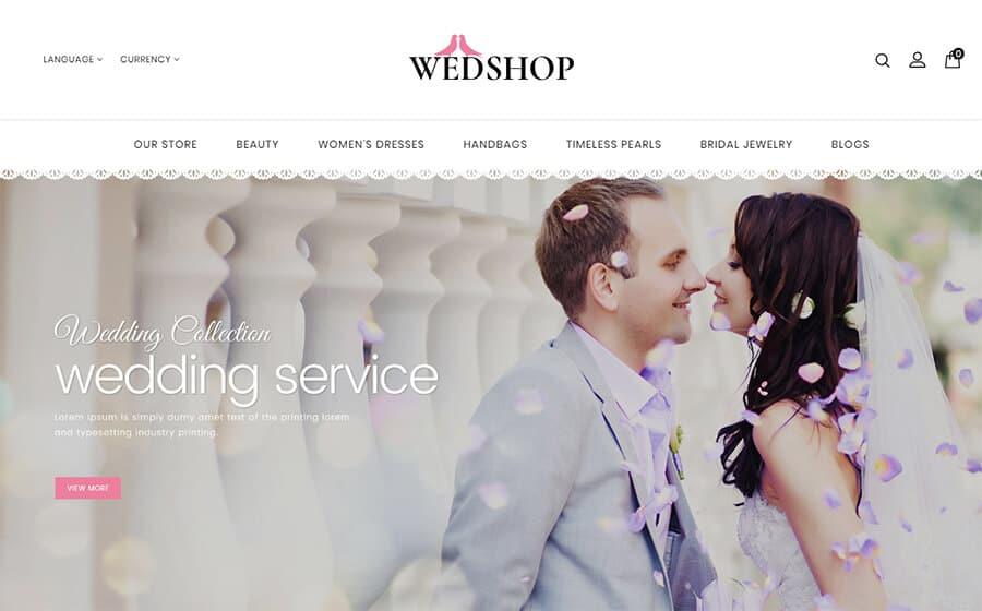 Wedshop Ecommerce Template