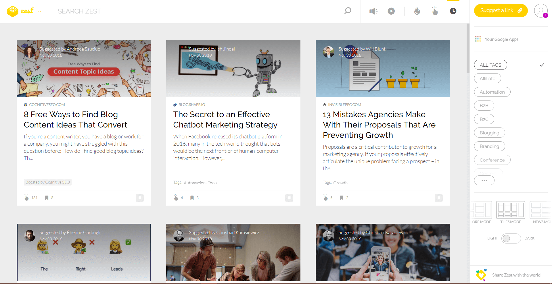 distilled zest is Content Promotion Platforms and Tools