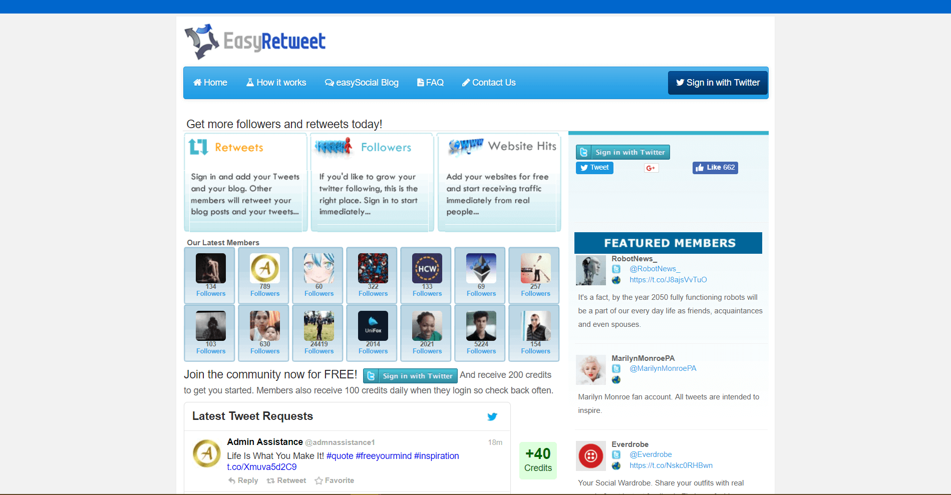 easyretweet Content Promotion Platforms and Tools