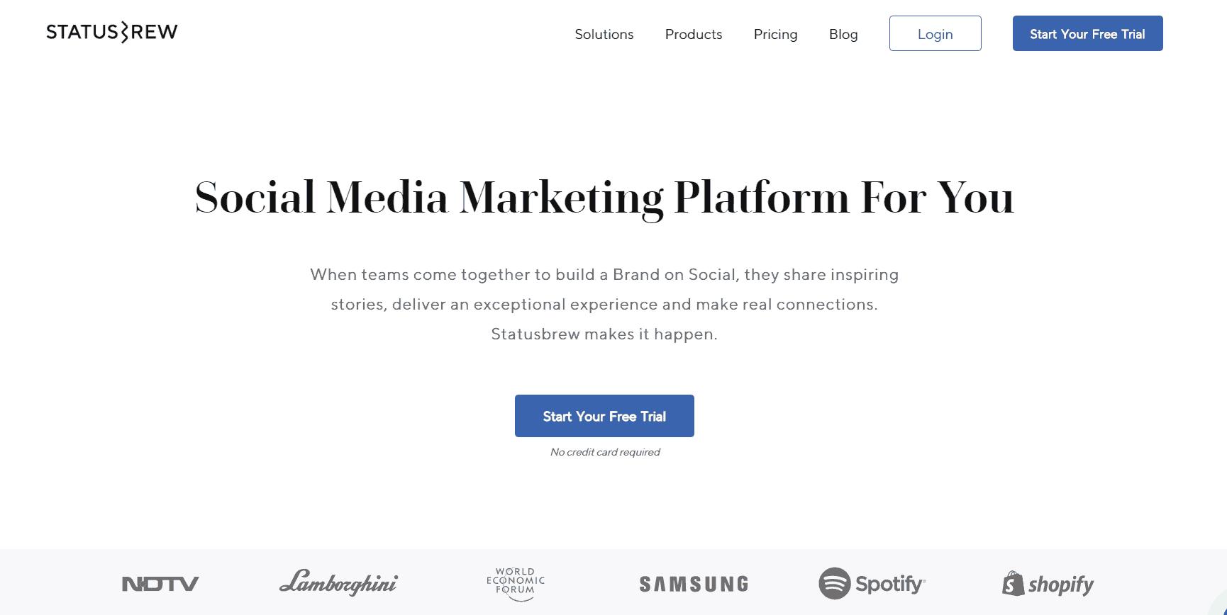 statusbrew Social Media Marketing Tool