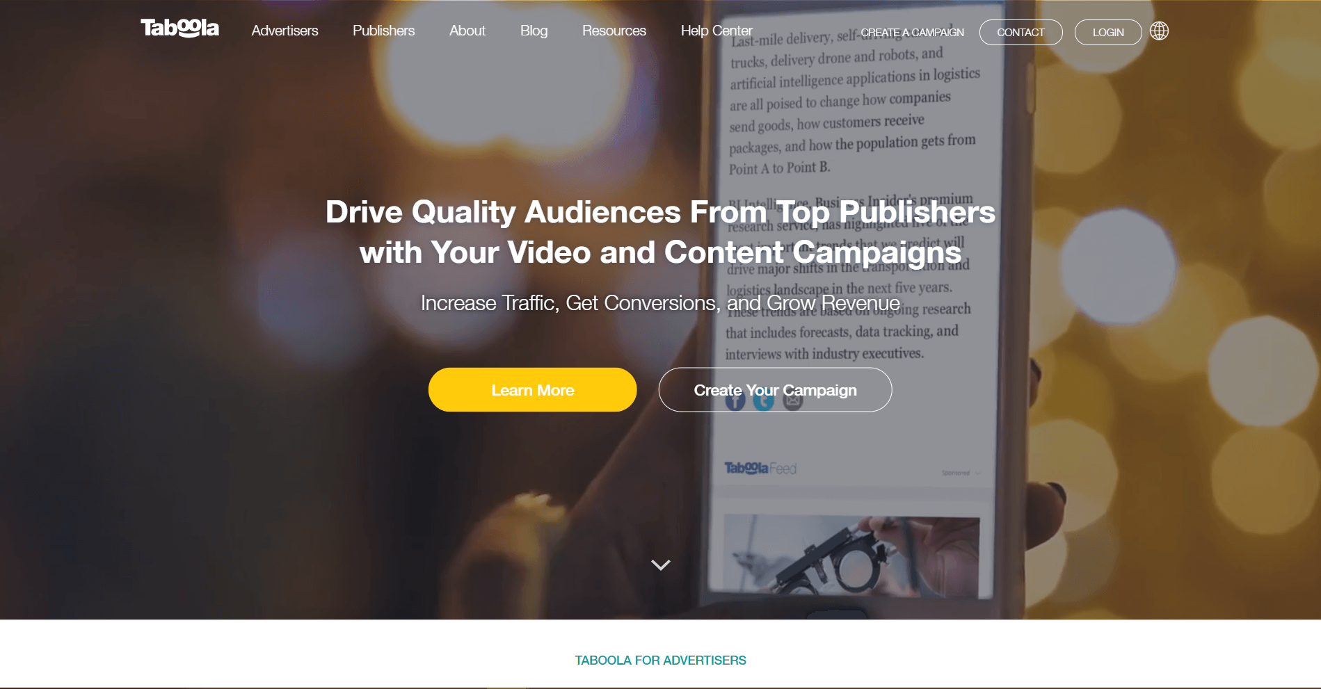 taboola Content Promotion Platforms and Tools