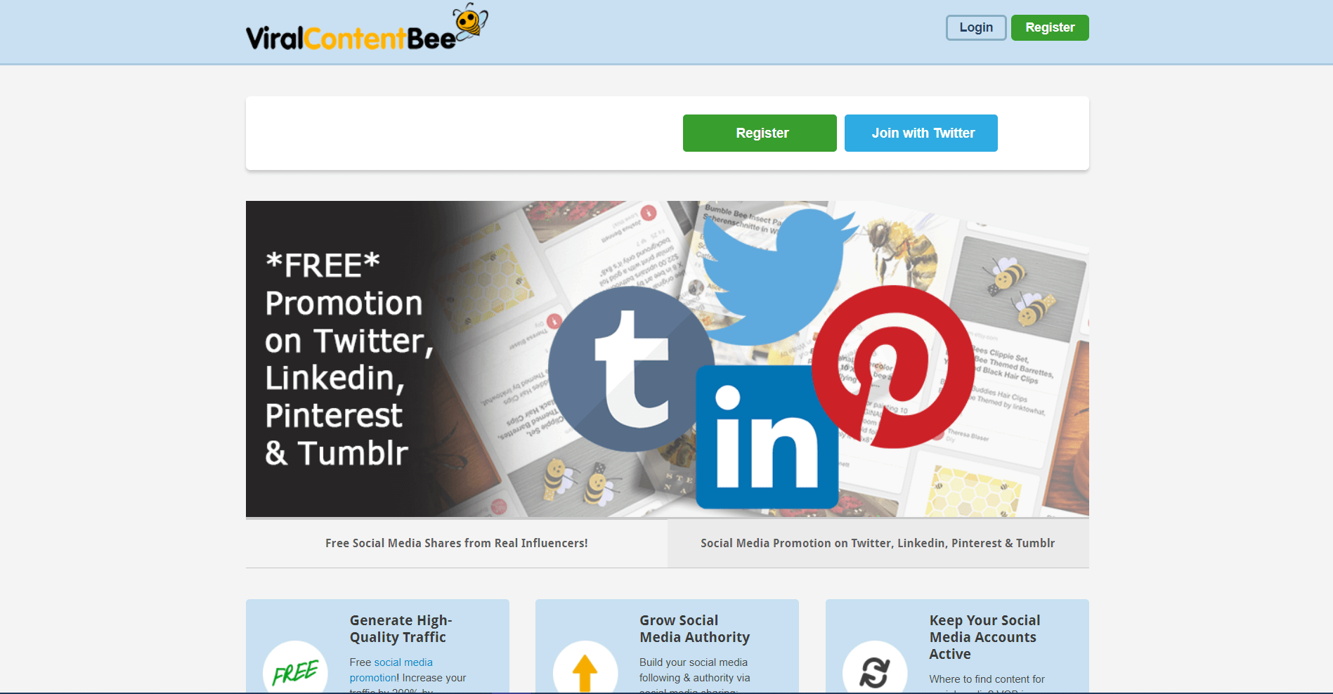 viralcontentbee Content Promotion Platforms and Tools