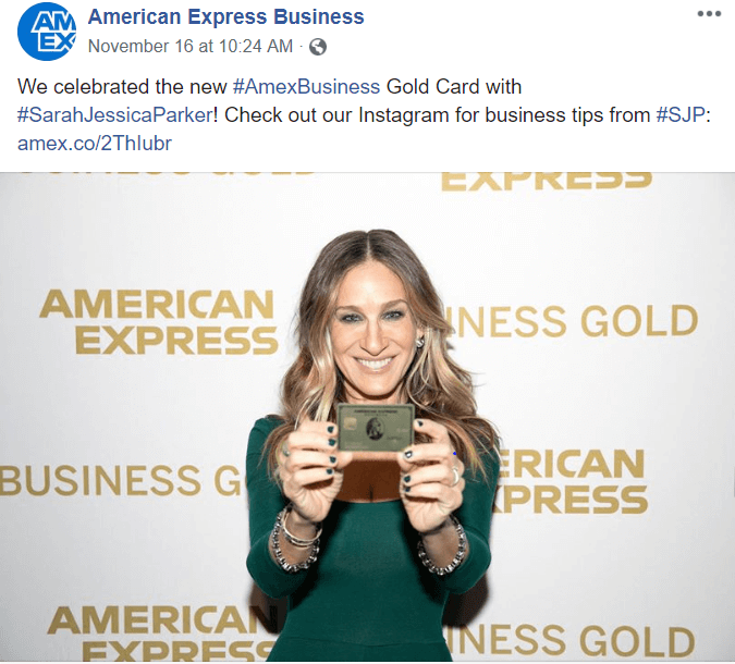 American Express business facebook B2B Facebook Ads