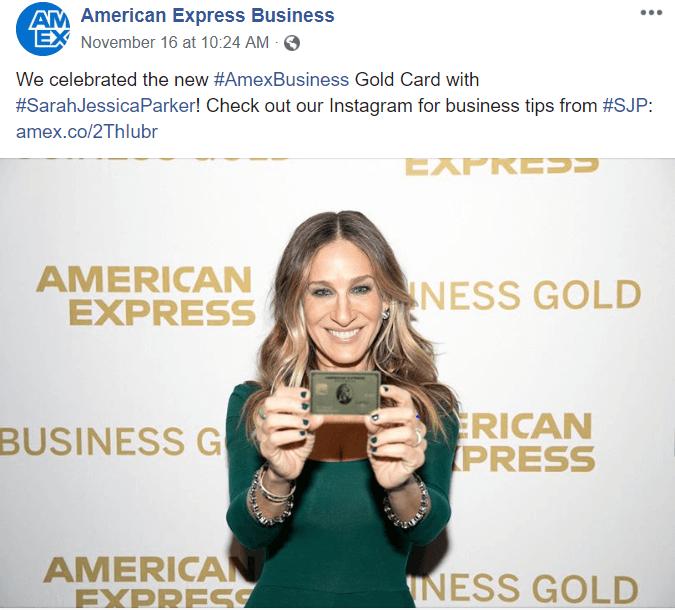 American Express business facebook B2B Facebook Ads