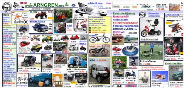 Arngren Website Navigation