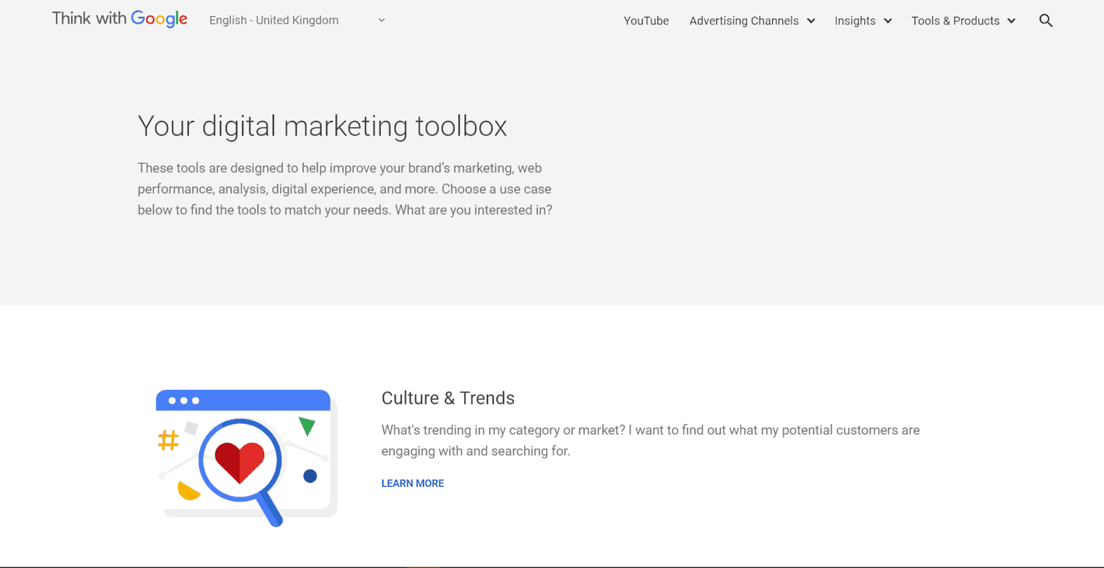 Digital Marketing Tools from Google Tools