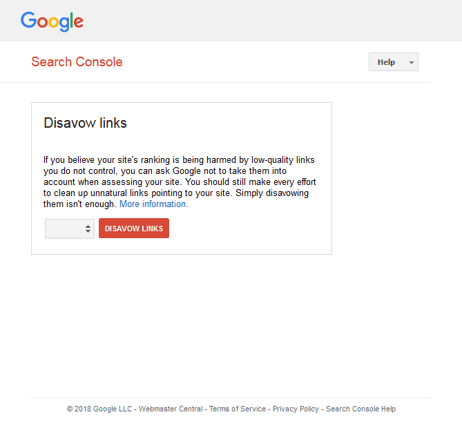 Disavow Links Tool penalty removal