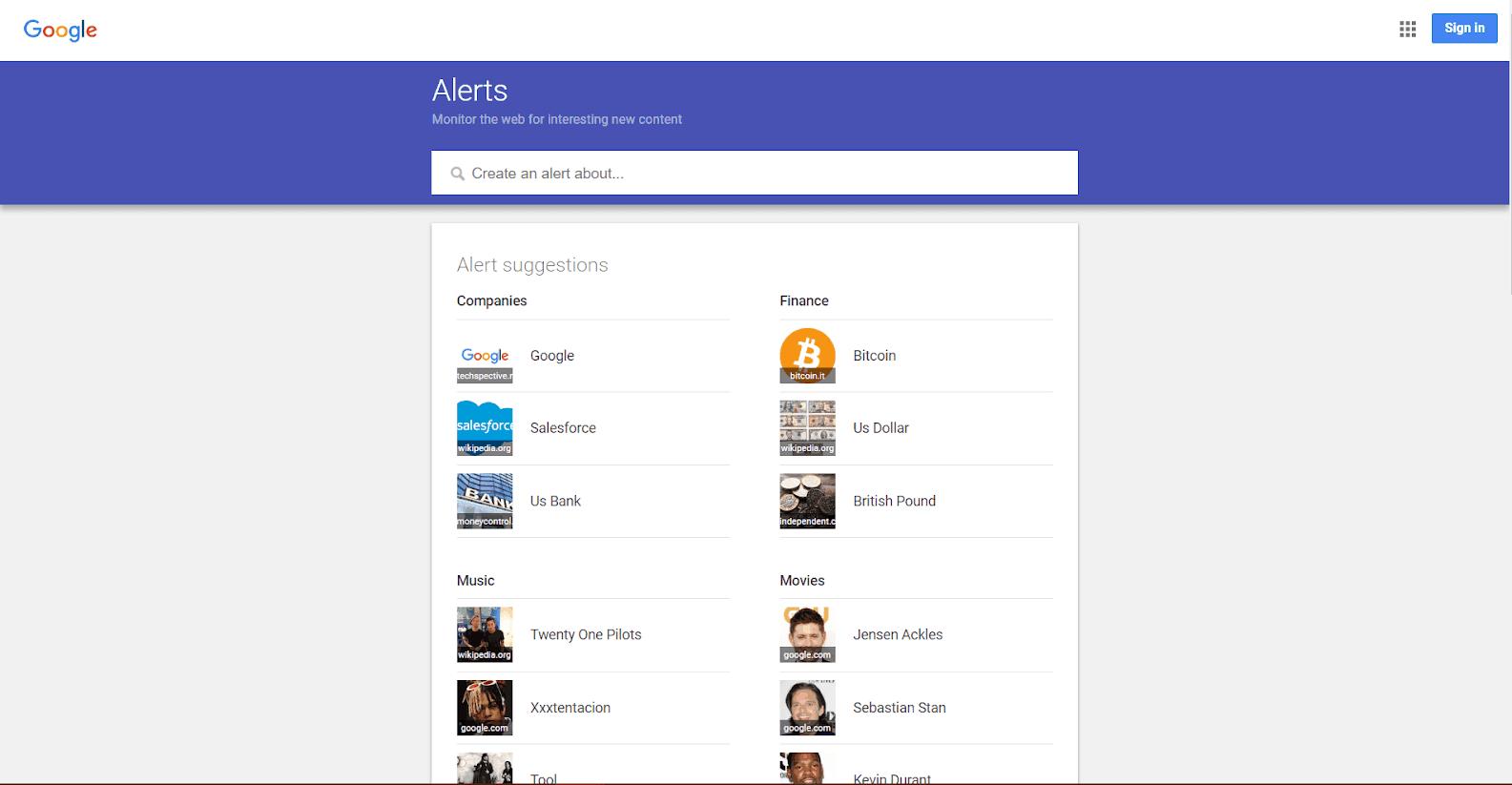 Google Alerts Tools