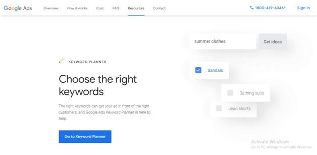 Google Keyword Planner Best PPC Tools