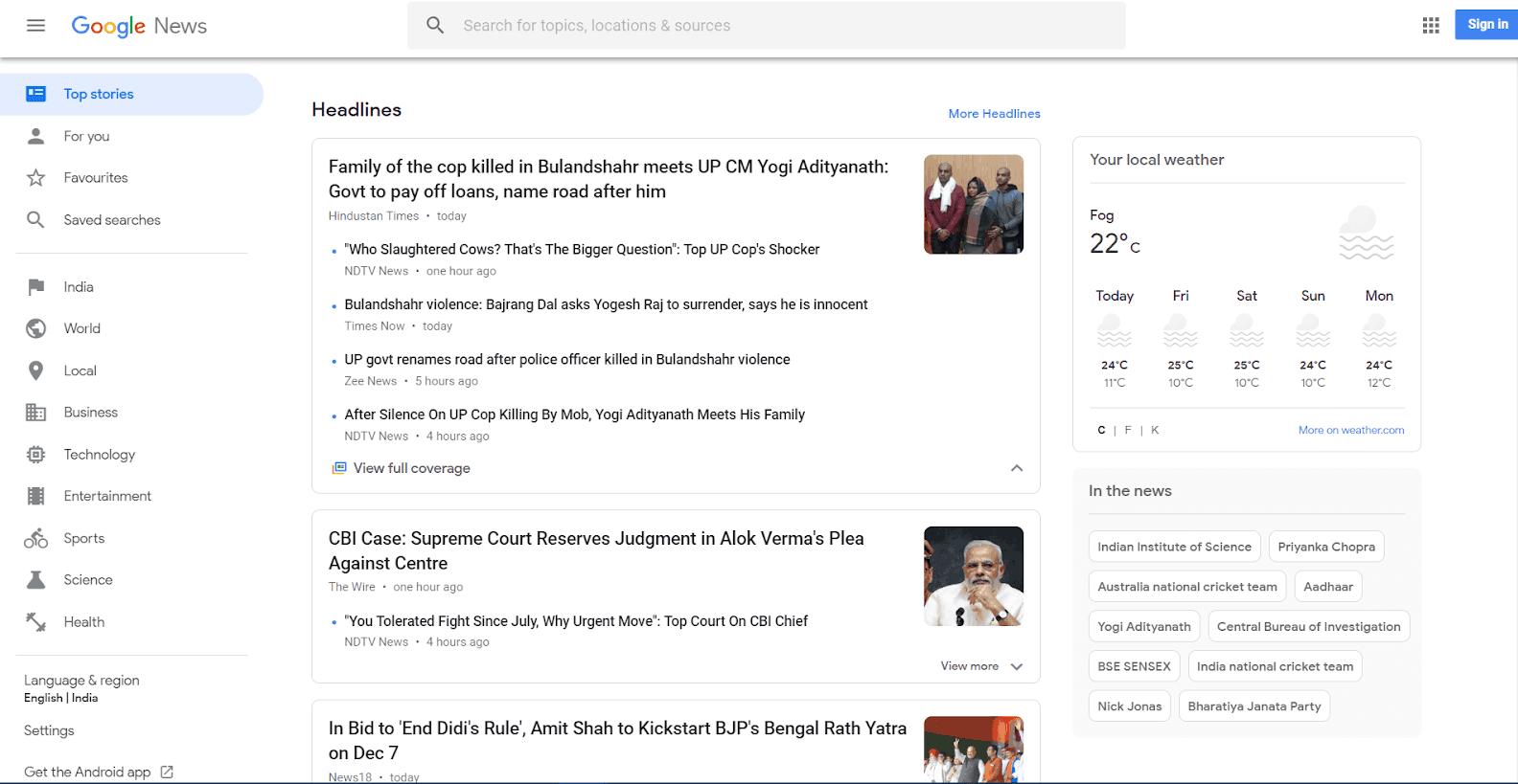 Google News Tools